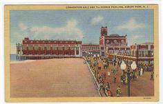 Convention Hall Pavilion Asbury Park New Jersey postcard