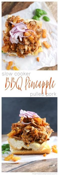 Barbecue Pineapple Pulled Pork - Slow Cooker Recipe