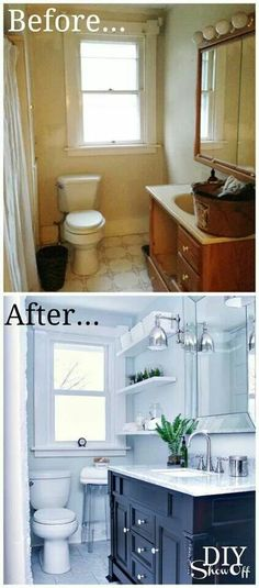 Gorgeous bathroom reno... Love seeing the before and after!