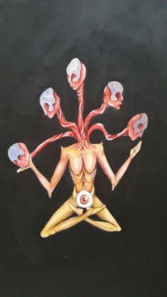 #art #myart #monster #crazy #observe #eyes #bones #black #china #colors #meditation