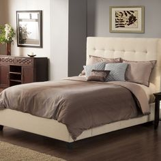 Casual Elegance Manhattan Storage Platform Bed with 4 drawers and wingback headboard | Wayfair
