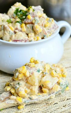A flavorful twist on a classic recipe, this Chipotle Ranch Potato Salad is sure to be a delicious side to your next pizza night in.