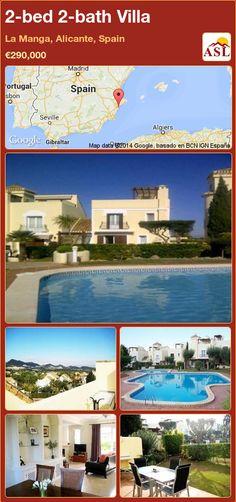 2-bed 2-bath Villa in La Manga, Alicante, Spain ►€290,000 #PropertyForSaleInSpain