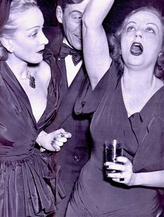 MARLENE DIETRICH JOHN HUSTON & TALLULAH BANKHEAD high as a kite (what we here in the colonies call 'off her face') Radio City Film Party Jan 22 1949. Tallulah had a lifelong cocaine & drinking problem, & was known for her parties that lasted days. Celebrating an award by N.Y movie critics to Huston for his direction of The Treasure of Sierre Madre. Marlene in DIOR & Tallulah most likely in Hattie Carnegie or Mainbocher. (please follow minkshmink on pinterest) #marlenedietrich…