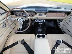 Restored 1966 Mustang Convertible - Overhauled For A Cause - Pay It Forward Photo & Image Gallery Ford Mustang 1965, Ford Mustang Convertible, Mustang Fastback, Mustang Cars, Mustang Interior, Truck Interior, Classic Mustang, Ford Classic Cars, Mustangs