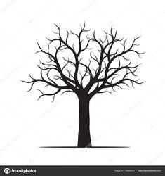 Černý strom bez listí. Vektorové ilustrace — Stock Vektor ... Black Tree, Leaves Vector, Tree Illustration, Character Design, Draw, Decor, Decoration, To Draw, Sketches
