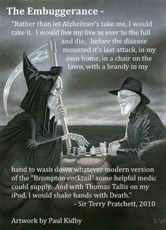 °Terry Pratchett RIP ~Art by Paul Kidby. ~Poster by Kim White