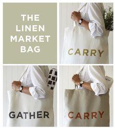 Want this market linen bag