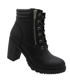 Look what I found on #zulily! Black Vogue Dual Closure Bootie #zulilyfinds