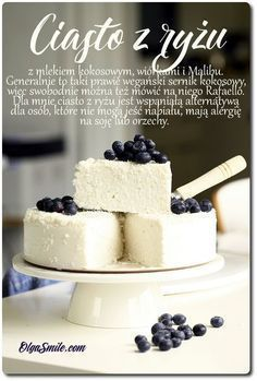 Cake with rise Vegan Sweets, Healthy Sweets, Vegan Desserts, Delicious Desserts, Sweet Recipes, Cake Recipes, Dessert Recipes, Polish Desserts, Dessert Sans Gluten