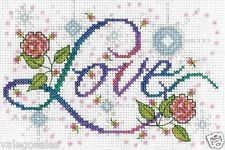 """Design Works Counted Cross Stitch Kit 5"""" x 7"""" ~ LOVE #2875 Sale"""