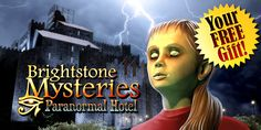 Get ready for our most fascinating giveaway yet!    An incredibly thrilling investigation awaits you in Brightstone Mysteries: Paranormal Hotel! Starting today through November 23rd, download this mystical story absolutely FREE on iOS, Google Play, Kindle Fire and Mac. Uncover the ancient secrets of a haunted castle-turned-hotel and solve an incomprehensible murder that occurred under very strange circumstances!   Learn more: http://www.g5e.com/sale