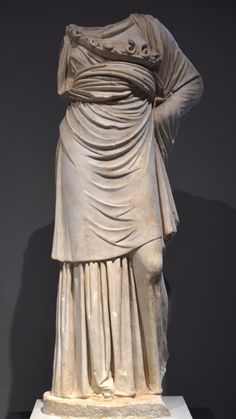 Headless statue of Athena of a Vescovali-Arezzo Type (modelled on a bronze prototype of the 4th century BC, from the portico of the pecile…