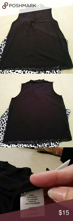 New York &co great basic black blouse. Excellent condition dressy blouse.  Sleeveless blouse that would be perfect for the office or dinner out. New York & Company Tops Blouses