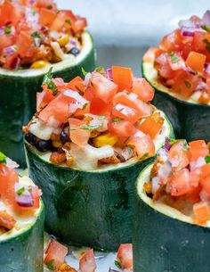 Taco Stuffed Zucchini Cups Recipe – Easy and fun to make low carb recipe that the whole family can enjoy. These stuffed zucchinis are gluten-free and full of flavor. Enjoy taco night with a healthy twist. Easy Taco Stuffed Zucchini Cups Recipe Tired of having tacos served the same way with tortilla all the time? … Healthy Taco Recipes, Healthy Tacos, Low Carb Recipes, Zucchini Health Benefits, Taco Stuffed Zucchini, Zucchini Cups, Zucchini Enchiladas, Easy Meals, Tired