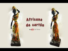 Africana hecha con Papel Periódico DIY Reciclaje/African with news paper - YouTube