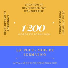 Abonnez-vous et accédez à un catalogue de 1 200 formations pour réussir votre entreprise. Que vous soyez au niveau de la création, du développement ou de la transmission. Abonnement sur https://www.laformationpourtous.com/offres  #formation #elearning #creationentreprise