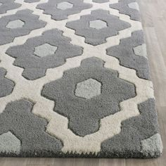 Safavieh Chatham Dark Gray/Ivory Moroccan Area Rug & Reviews | Wayfair | 7' square | $382