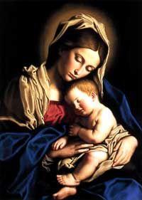 Madonna and the Child Jesus by Sassoferrato