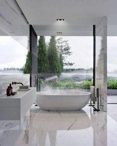 Minimal Interior Design Inspiration - pinupi love to share Modern Master Bathroom, Minimalist Bathroom, Modern Bathroom Design, Bathroom Interior Design, Decor Interior Design, Master Baths, Master Bathrooms, Bathroom Designs, Kitchen Interior