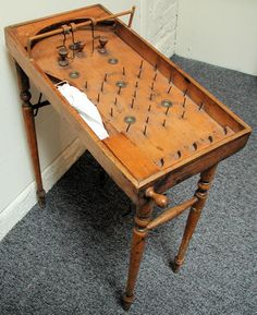 (MIS25) Small Table/Bagatelle Pin with folding legs , Traditional Games