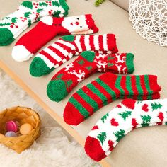 3e8b6d568ae 3 Pairs Coral Fleece Christmas Cosy Casual Cute Elastic Socks Soft Ladies  Bed  fashion