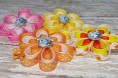 3 layered flower clip baby hair clip