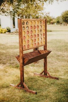 Giant connect four, wedding lawn games Rustic Grace Estate, Van Alstyne, TX Ph. Giant connect four Backyard For Kids, Backyard Projects, Outdoor Projects, Wood Projects, Outdoor Decor, Kids Yard, Kids Woodworking Projects, Outdoor Benches, Backyard Camping