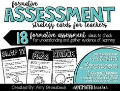 Provide students with ongoing assessment opportunities to help you differentiate instruction and improve student achievement. These 18 formative assessment strategy cards will provide quick checks for understanding and reveal evidence of learning. Individual and cooperative assessment tools are included to help keep your students motivated, engaged, and accountable for their own learning.