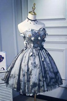 Flower Dresses, Pretty Dresses, Beautiful Dresses, Chiffon Dresses, Lace Dress, Cute Homecoming Dresses, Pageant Dresses, Dress Prom, Dresses For Teens