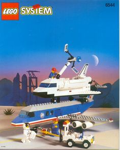 LEGO 6544 Shuttle Transcon 2 instructions displayed page by page to help you build this amazing LEGO Town set Old Lego Sets, Best Lego Sets, Lego Shuttle, Avion Lego, Bionicle Lego, Lego Vintage, Instructions Lego, Lego Plane, Big Lego