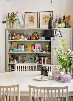 Scandinavian Vintage Style.... Interesting, description I haven't heard yet. Clean but vintage/collectibles. One spot instead of everywhere.