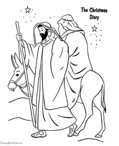 Christian coloring pages - The Christmas Story - Printable