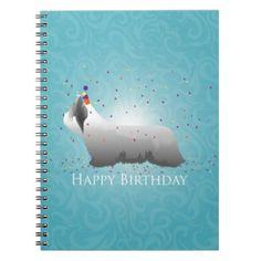 Skye Terrier Happy Birthday Design Spiral Note Books