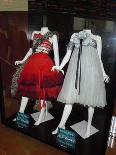 Alice in Wonderland Movie 2010   Alice in Wonderland dresses and Stayne costume on display...