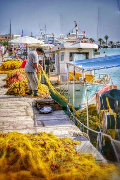 Zakynthos Island, Ionian Sea, Greece, Harbour's Fishing Boats Photography by Alistair Ford Santorini Villas, Myconos, Zakynthos Greece, Fishing Photography, Greece Islands, Salt And Water, Greece Travel, Fishing Boats, Travel Inspiration