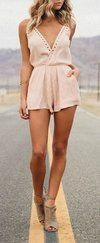 Second Look Blush Pink Romper