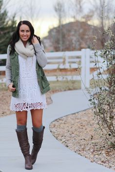 #paleomg Fashion Fridays using summer dresses into fall and winter