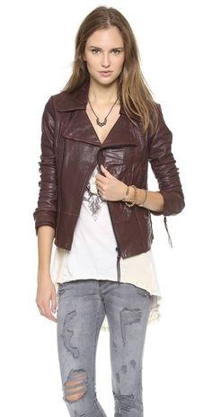 June Classic Leather Jacket | SHOPBOP