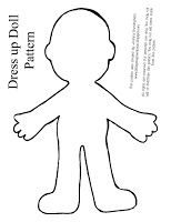 blank paper doll template for \