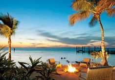 Beachside Firepit at Little Palm Island Resort & Spa - Luxury Travel in the Florida Keys