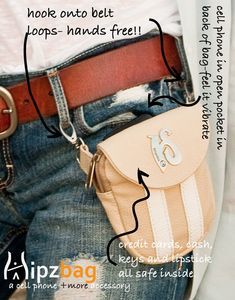 @hipzbag  The Fashionable Waist Bag worn 3 ways! Wear on belt loops, cross body or with a matching waist strap. http://www.hipzbag.com