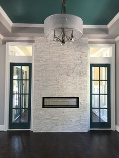 Artic White Ledgestone by Legends Architectural Stone Ledger Stone Fireplace, White Stone Fireplaces, Stone Fireplace Wall, Rock Fireplaces, White Fireplace, Fireplace Ideas, Stone Accent Walls, Accent Walls In Living Room, My Living Room