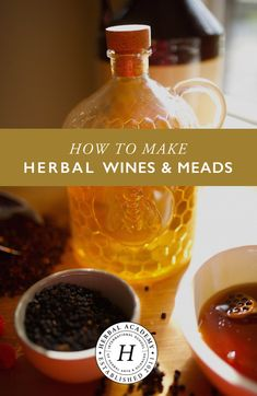 How To Make Herbal Homemade Wines and Meads Herbal Academy Homemade herbal wines and meades have been around for centuries Learn how to make them in your own kitchen Homemade Wine Recipes, Homemade Alcohol, Homemade Liquor, Mead Wine, How To Make Mead, Mead Recipe, Make Your Own Wine, How To Make Wine, Wine And Beer