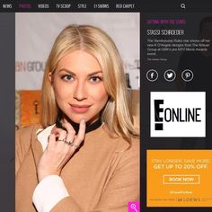 E! Online featuring our White Galaxy Stacking set on the beautiful Stassi Schroeder!