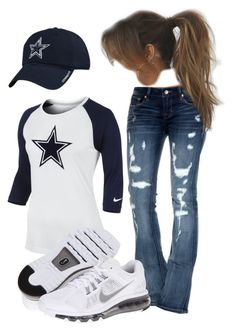 """Dallas Cowboys"" by twistedribbon12 ❤ liked on Polyvore featuring Cult of Individuality, NIKE and Reebok"