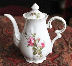Teapot or Coffeepot.  White Porcelain Pot by AnythingDiscovered, $21.00