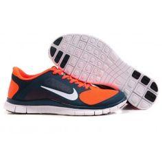 Nike Free 4.0 Dunkelblau Orange Weiß Männer