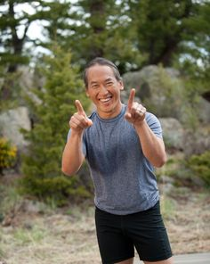 Yoga Teacher Rodney Yee. Won't do yoga from anyone else, he makes all poses seem possible. At least someday.