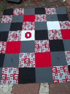 Ohio State Buckeyes Blanket Quilt Throw Reversible Warm